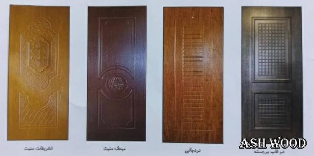 انواع درب چوبی ملامینه , ام دی اف و اچ دی اف